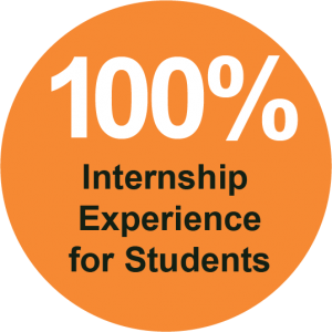 100 Internship Experience 300x300 - Small Campus. BIG Opportunities.