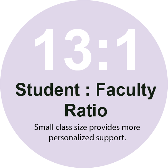 13 1 Faculty Student Ratio 1 - Small Campus. BIG Opportunities.