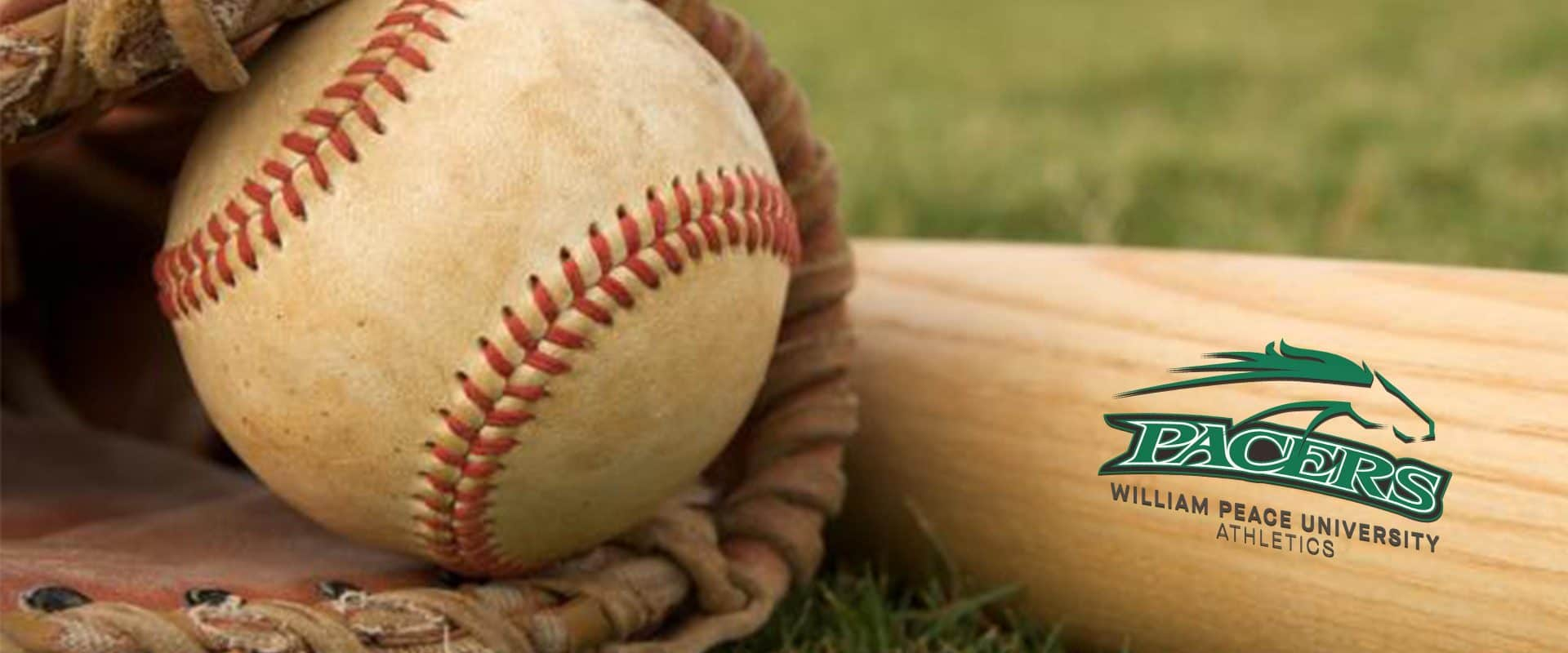 WPU baseball bat and ball.