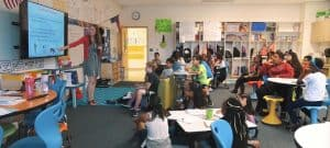 WPU Alumna Courtney Massengill teaches her classroom.