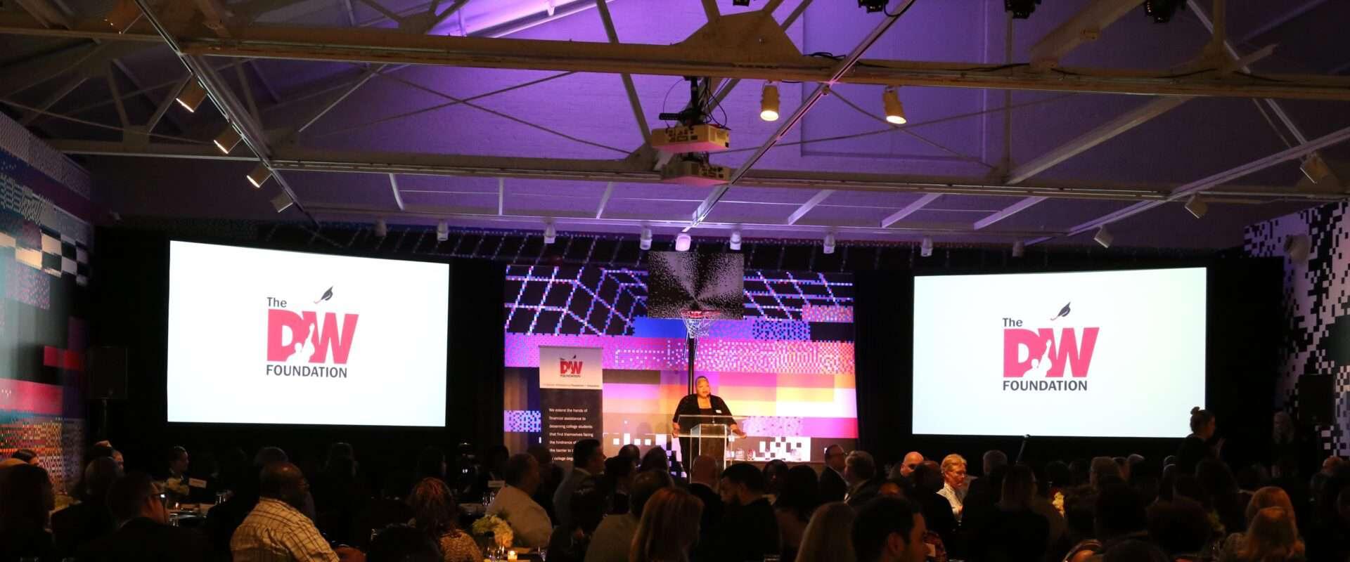 Jacqueline Whittenburg speaks at DW Foundation Awards Dinner.