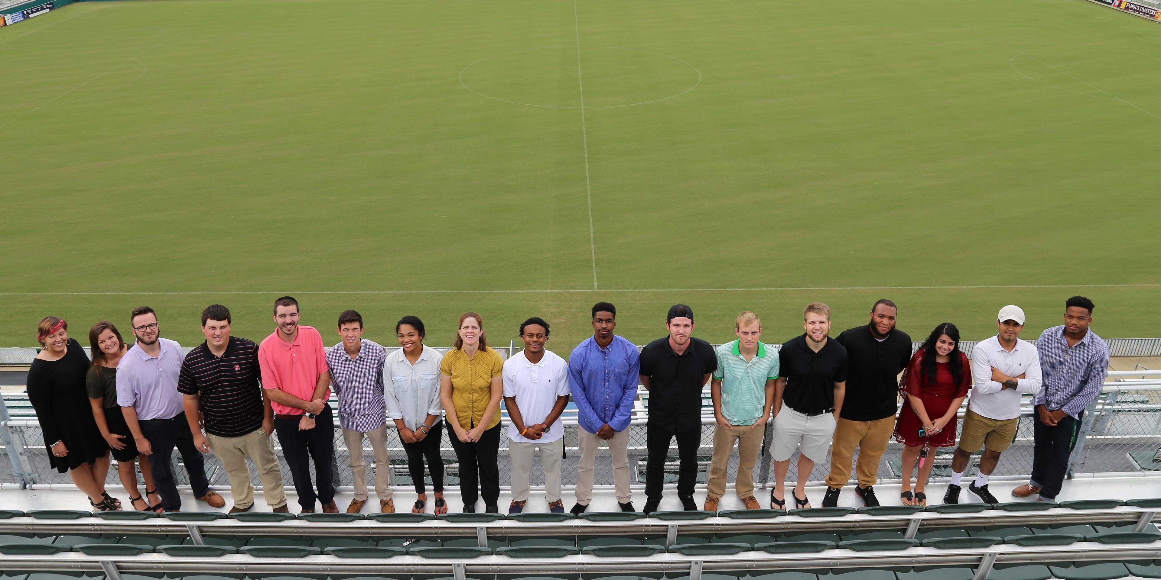 WPU Students at the NC Football Club stadium.