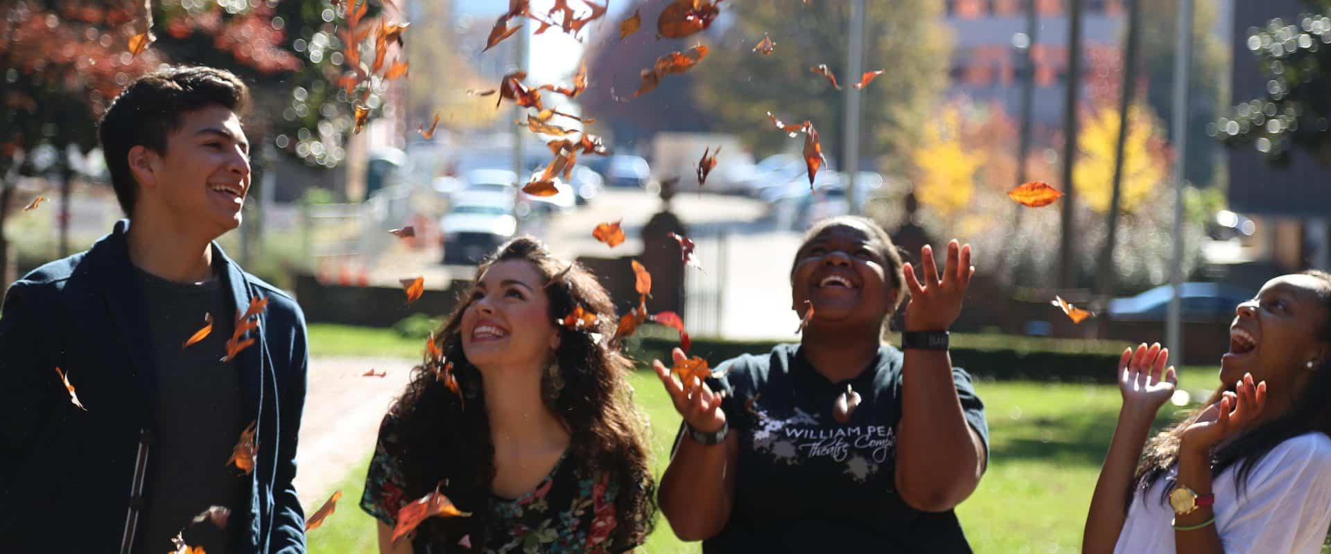 WPU students enjoying the Fall weather.