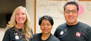 Hugo with Clancy and Theys coworkers Deanna and Angela 300x135 - The Intern Effect: Hugo Fiscal-Martinez Adds to His Toolkit