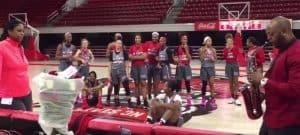 WPU Professor, Jashaun Peel plays saxophone for NC State women's basketball coach.