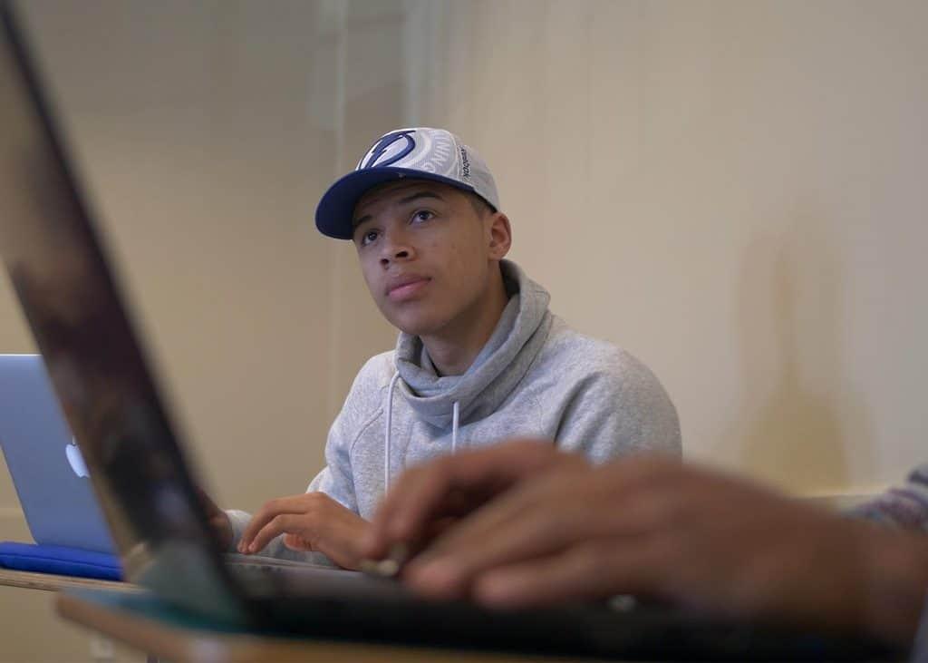 Male Student Laptop