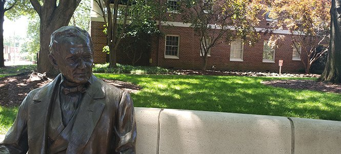 Mr William Peace on Main Lawn WPU - Meet Ryan Killilea, Admissions Recruiter