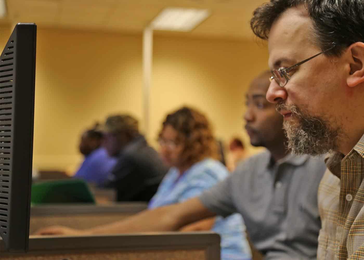 WPU SPS student in class.