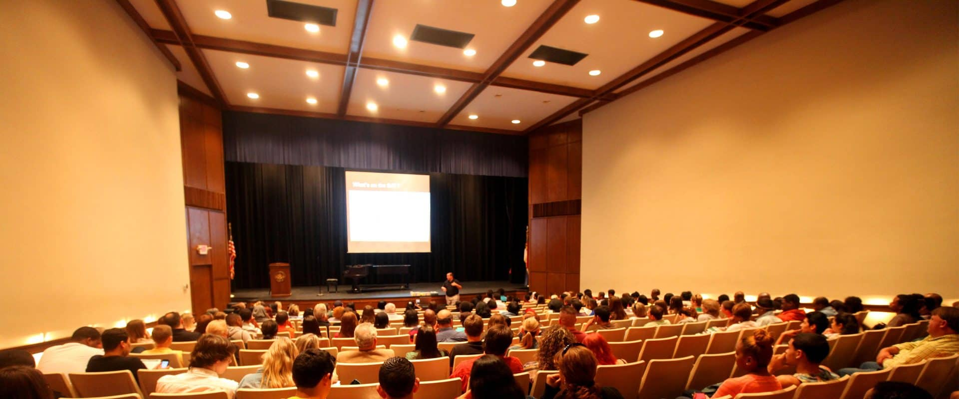 Kenan Theatre on WPU campus.