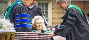 Dr. Sally Buckner at 2017 Commencement