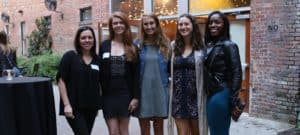WPU faculty and students at the 2018 Sir Walter Awards