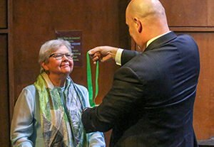 SmallPMP 300x207 - Alumna Sara Jo Manning `58,`60 Awarded William Peace Medallion