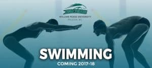 WPU swimming team promo image.