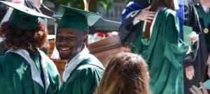 Terrace Myles '16, smiles at graduation.