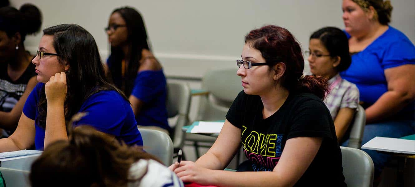 WPU students listening to a lecture in History class.