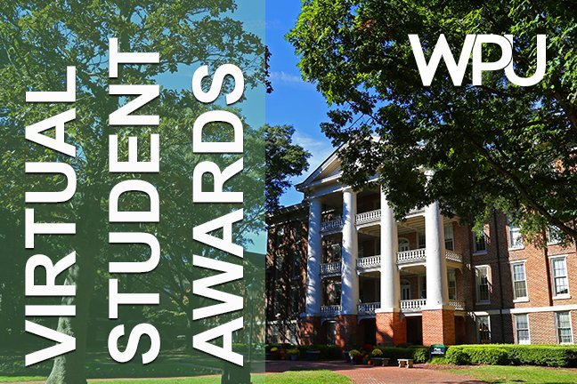 graphic for Virtual Student Awards at WPU