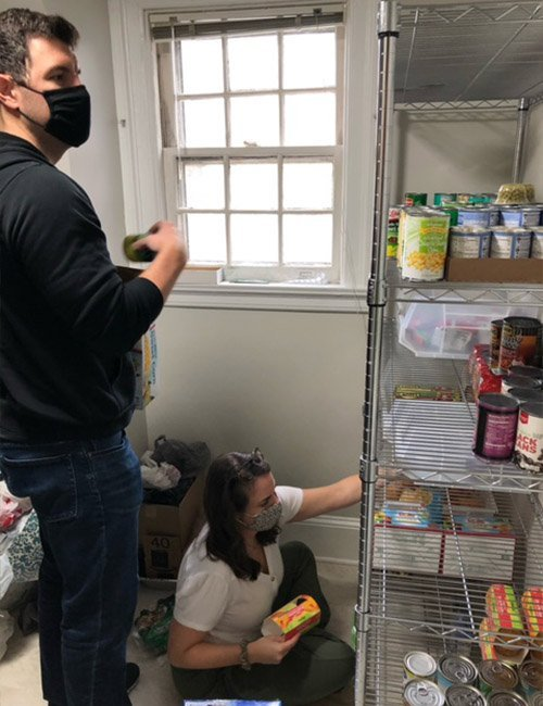 WPU family give back to Pacer Pantry 1 - Giving Thanks