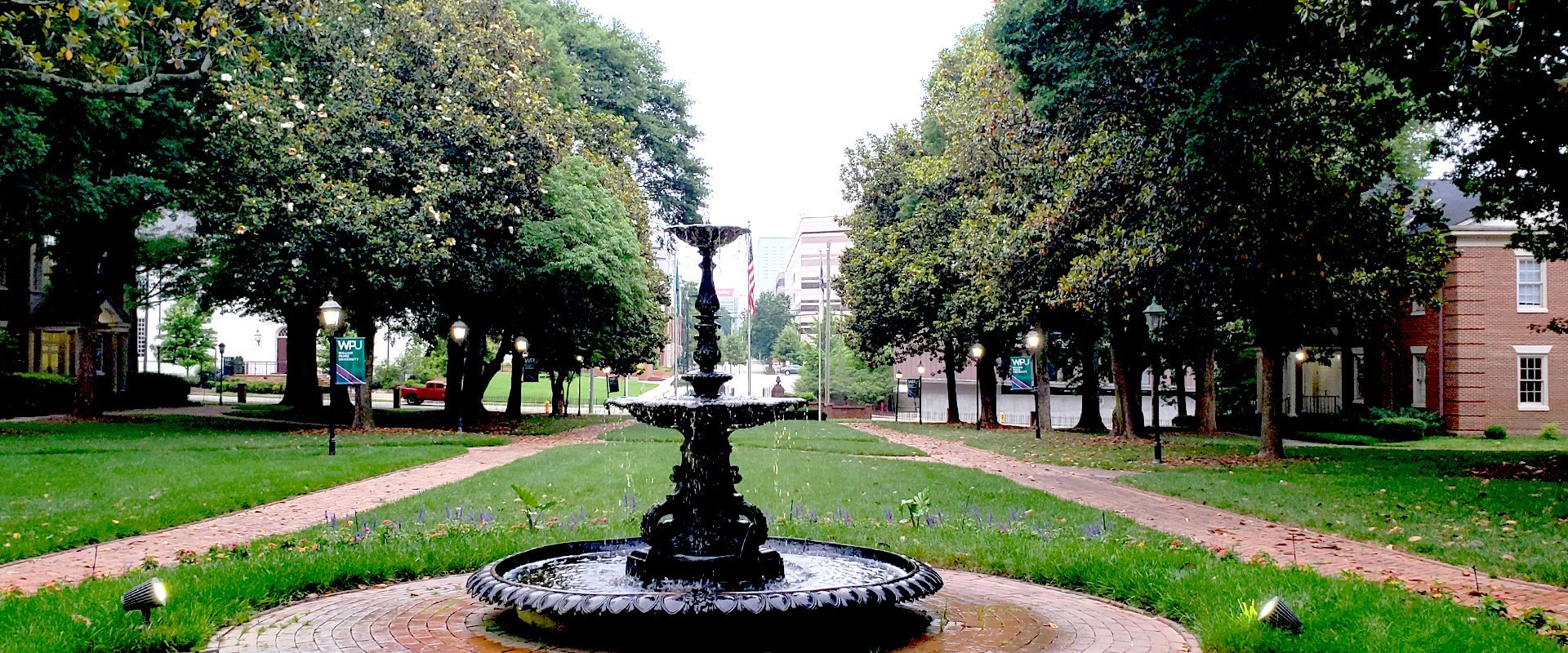 William Peace University Downtown Raleigh NC Historic Fountain - WPU Advancement; Communications and Marketing Win Regional Awards at CASE III Conference in Nashville, TN