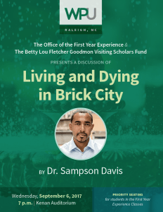 image 232x300 - Award-Winning Author & Speaker, Dr. Sampson Davis, Comes to WPU, Wednesday, Sept. 6th