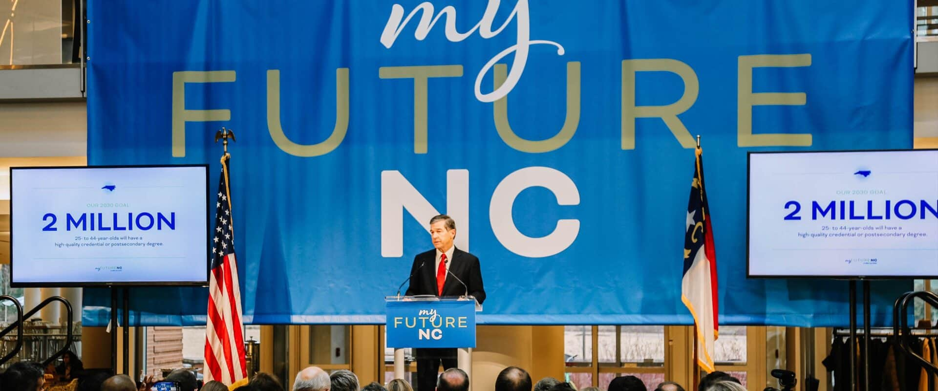 WPU, along with Governor Roy Cooper, attended the MyFutureNC conference in February 2019.